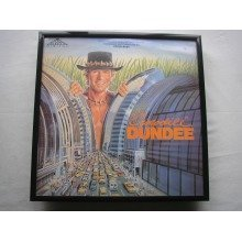 CROCODILE DUNDEE OST LP cover framed for wall mounting BLACK