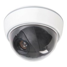 Silverline Dummy Security Dome Camera With LED 3 x Aa - 828951 Cctv Fake Motion -  security dummy dome camera led silverline 828951 cctv 3 x aa fake