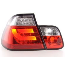 Led Taillights BMW serie 3 E46 saloon Year 02-05 red/clear