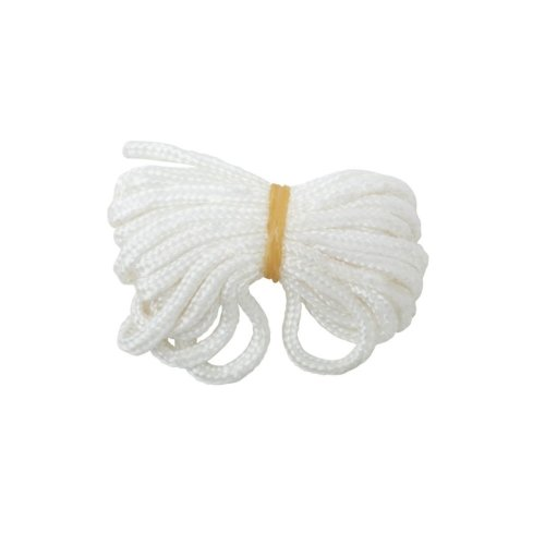 Bulk Hardware BH03158 White Nylon Picture Cord, 60 Kg (132lb) Breakweight 6M (19.5ft)