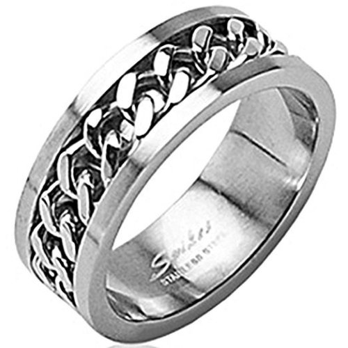 Spinning Chain Stainless Steel 6mm Width Band Ring