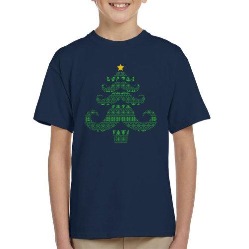 Christmas Moustache Tree Kid's T-Shirt