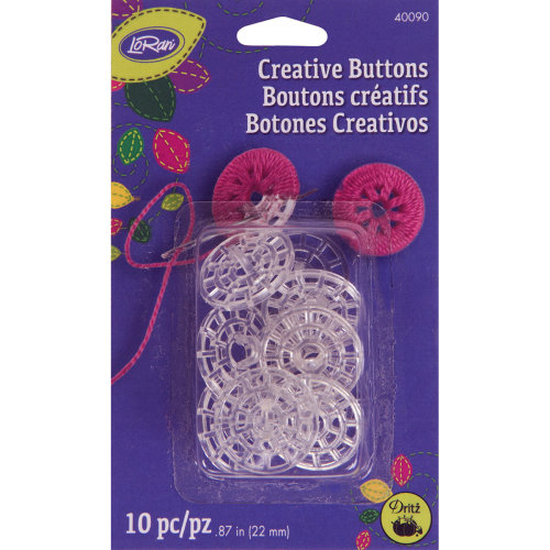 Loran Creative Buttons 22Mm 10/Pkg-
