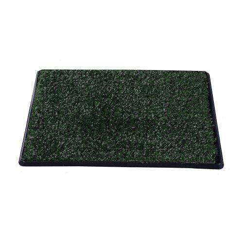 Pawhut Indoor Dog Toilet Training Mat Potty Tray Grass Restroom Portable (64w X 3t (cm))