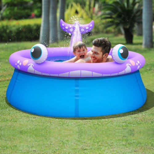 Jilong Inflatable Spray Pool Whale Shape 175x62 cm 1143 L