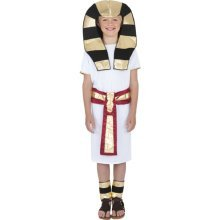 Smiffy's Children's Egyptian Boy Costume, Robe, Belt, Headpiece & Anklets, Ages -
