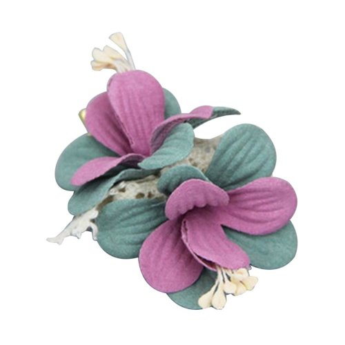 [Flower-2] 2 Pairs Stylish Hair Clip Baby Girls Hair Clip Princess Hair Barrette