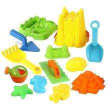 Children's Seaside Toys 13 Pieces Beach Toys Set Kids' Sand Toys Random Color