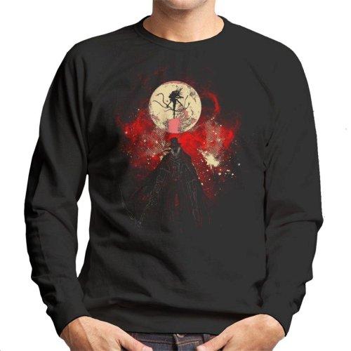 Moon Presence Silhouette Bloodborne Men's Sweatshirt