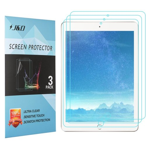 New iPad 9.7 inch 2017 Screen Protector, J&D Premium HD Clear Film Shield Screen Protector for New iPad 9.7 inch (Release in 2017), iPad Pro 9.7...