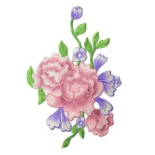 Embroidery Applique Peony Applique Patches Cloth Appliques DIY Sew on Patches