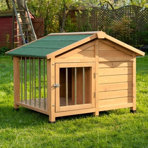 Special Dog Kennel With Patio and Pitched Roof Medium