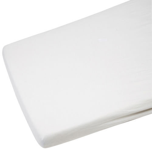 2x Cot Jersey Fitted Sheet 100% Cotton 120x60cm Mattress White
