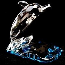 Cut Crystal Dolphin Wildlife Ornament