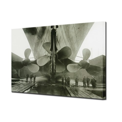 Titanic Canvas Wall Art Print, Titanic's Propellers, Ready to Hang
