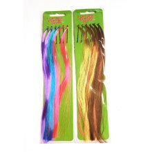 ICB - 12 Fake Hair Strands on Grips - Bright and Natural
