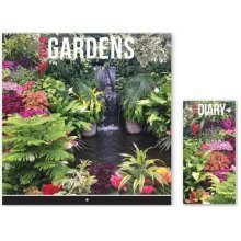 2018 Gardens Wall Calendar & Diary Christmas Birthday Gift Square Home Office Plants Landscape Gardening Flowers'