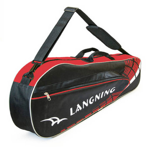 Adjustable Shoulder Strap Badminton Racket Cover Badminton Racket Bag Tennis Bag (3 Racquet), Red