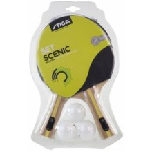 Stiga Table Tennis Bat Bat Set Scenic 2 bats+ 3 balls and netset