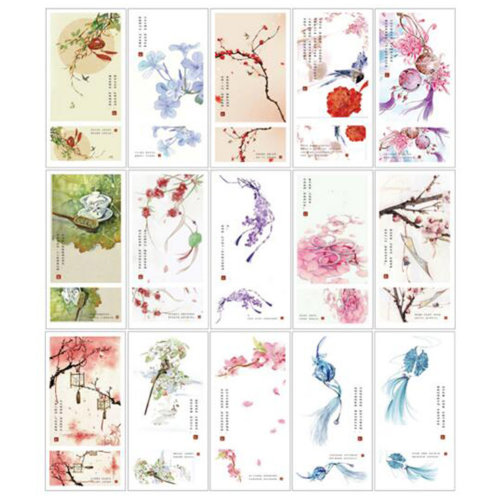 30 PCS 1 Set Creative Chinese Retro Card Greeting Postcards Blessing Cards, No.9