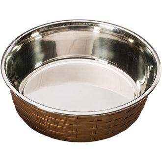 Soho Basket Weave Dish 30oz-Copper