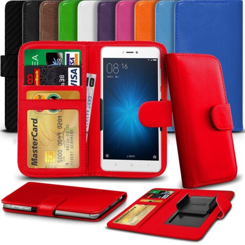 """iTronixs - BLU Energy Diamond (4.5"""") High Quality Clamp Style PU Leather Wallet Case Cover"""