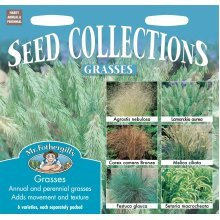 Mr Fothergills - Pictorial Packet - Grass Collection - 6 Varieties Seeds