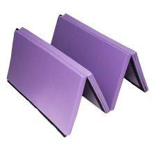 Homcom Folding Exercise Mat Thick Pad Yoga Workout 183L – Purple