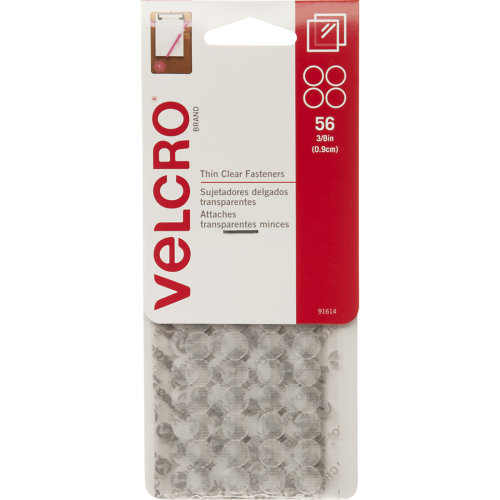 """VELCRO(R) Brand Thin Fasteners Dots .375"""" 56/Pkg-Clear"""
