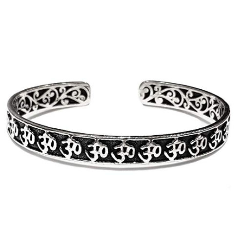 6fd3dd765b7 OM Silver Bangle Made From Solid 925 Sterling Silver on OnBuy