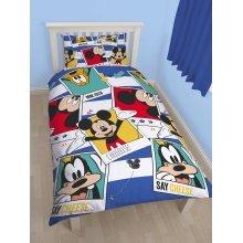 Mickey Mouse Polaroid Single Duvet Cover Set Polyester