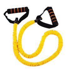 Latex Resistance Band Exercise Straps/Fitness Exercise Bands, Yellow(Size: 1.2M)