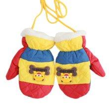 1 Pair Kids' Winter Gloves Warm Mittens Windproof Glove(2-6 Years) Bear Red