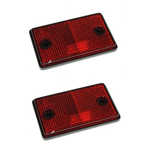 Reflectors - 2x Red Dp - 2x Eapproved Rectangular Trailer Caravan Side Marker -  reflectors 2x eapproved rectangular trailer caravan side marker