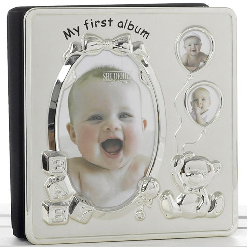 Memories My First Year Baby Photo Frame Album Silver On Onbuy