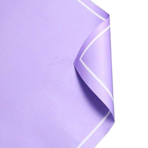 20Pcs Flowers Wrapping Paper Gift Packaging Paper Bouquets Of Paper, Light Purple