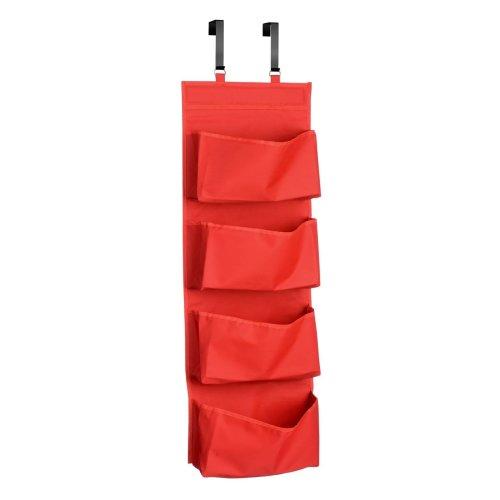 4-Tier Over Door Hanging Organiser - Red