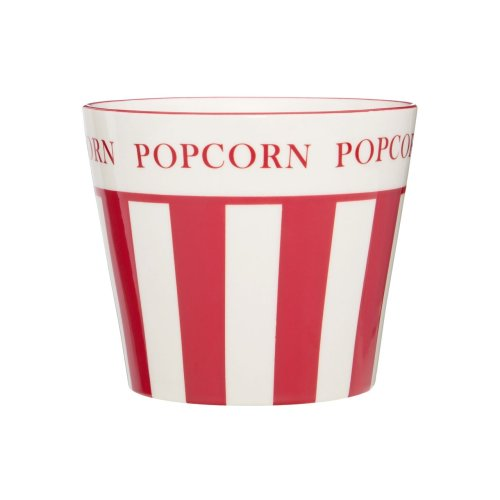Hollywood Small Popcorn Bowl, Red & Cream