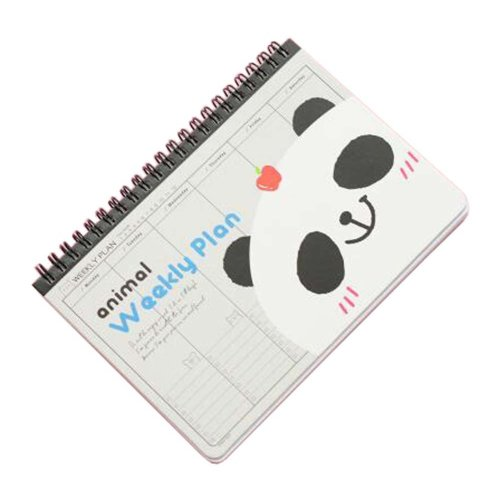 Lovely Coil Schedule Book Weekly Planner Plan Notebook Panda