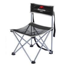 Portable Folding Chair Stool Camping Chairs Fishing Travel Paint Outdoor, Elegant Black