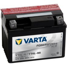 Varta Motorcycle Battery Powersports AGM YT4L-4 / YT4L-BS