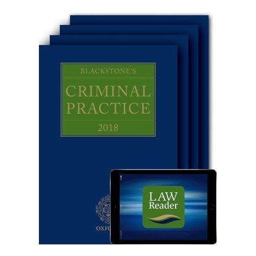 Blackstone's Criminal Practice 2018 (Book, All Supplements and Digital Pack) (C Crprac T Blackstones Crimina)