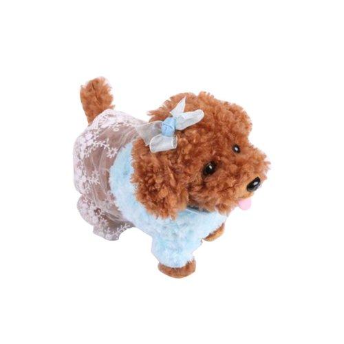Electronic Plush Toy Dog Remote Control Machinery Pet-Blue/Sister