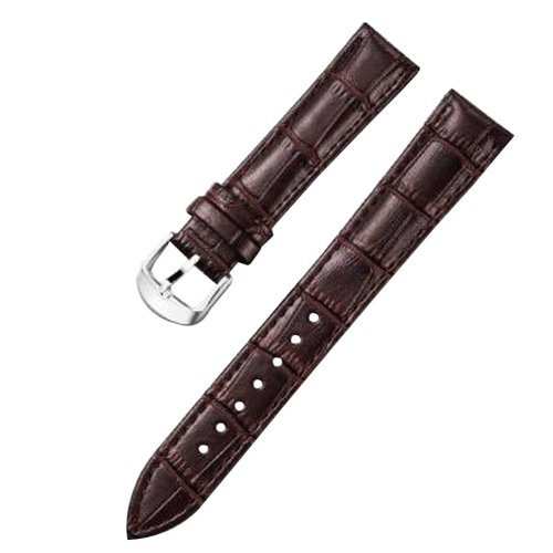 PU Watch Strap Watchband Wrist Replacement Pin Buckle for Women [Brown]