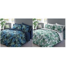 Palm Leaf Printed Duvet Cover Fine Bedding Set All sizes