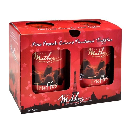 Chocolat Mathez Fine French Cocao Powdered Chocolate Truffles Fantaisie (2*17.6OZ 2*500G)