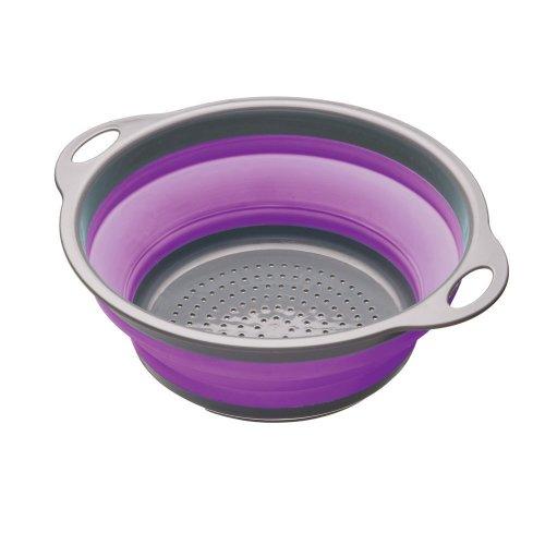 24cm Purple Colourworks Collapsible Colander - Kitchen Craft 28 24cm -  collapsible colander kitchen colourworks craft purple 28 24 cm
