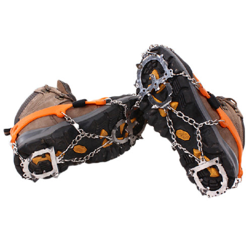 12 Spikes Winter Pro Traction Cleats for Snow and Ice Anti-Slip Shoe Grips Pair