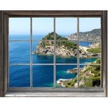 PLAGE 800400 WINDOW 'TROMPE L'OEIL' ADHESIVE - Sea, 60 x 75 cm