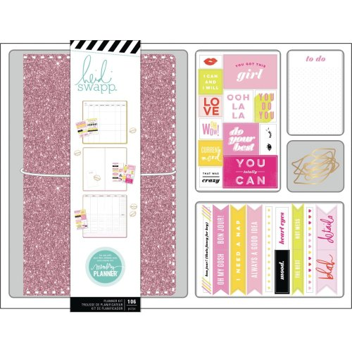 Heidi Swapp Personal Memory Planner Boxed Kit-Color Fresh, Pink Glitter